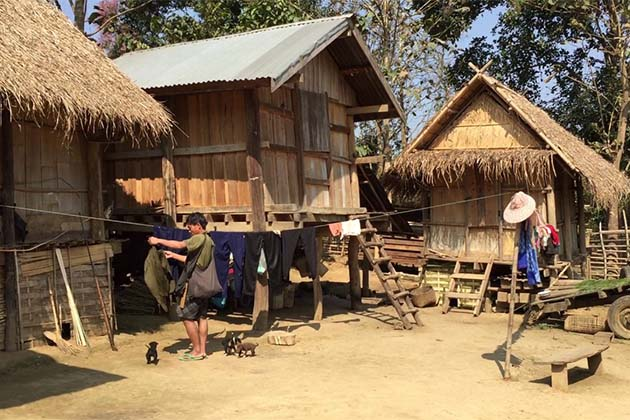 Hmong village in Laos