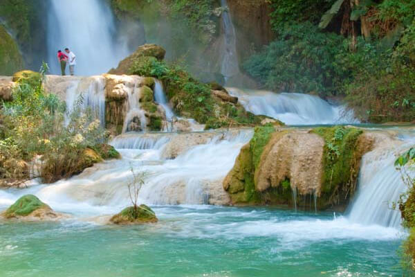 Kuang-Si-Waterfall, Tour in Laos