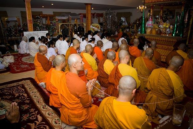 Laos funeral ceremony