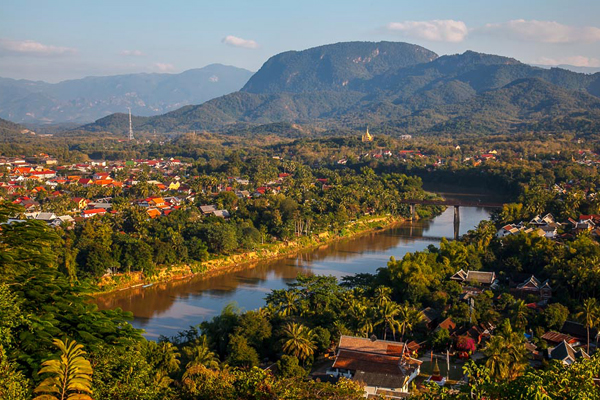 Luang Prabang Ancient Town at its best season of tourism in January