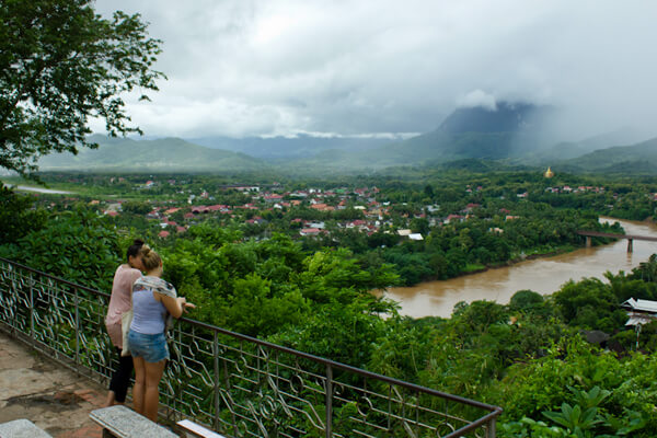 Luang Prabang view from Mount Phousi