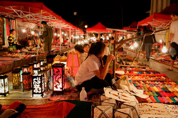 Luang Prabang Night Market, Laos Tours