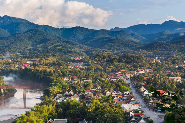 Panoramic view of Luang Prabang