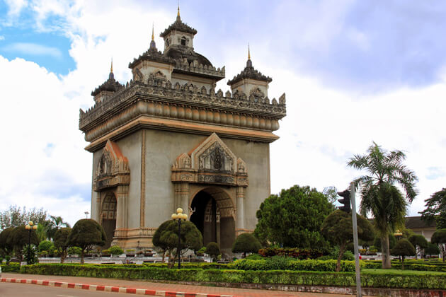 Patuxay-Monument, itinerary in Laos