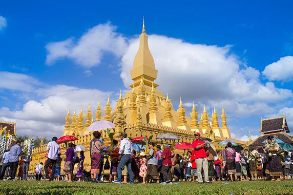That Luang Stupa Pha That Luang in Vientiane