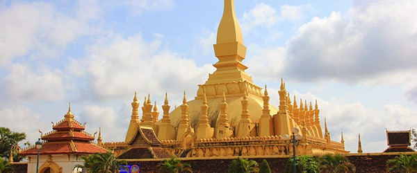 That Luang is one the most famous places in Vientiane