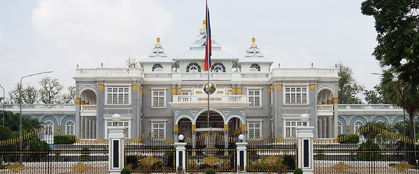 The front of The Presidential Palace in Vientiane