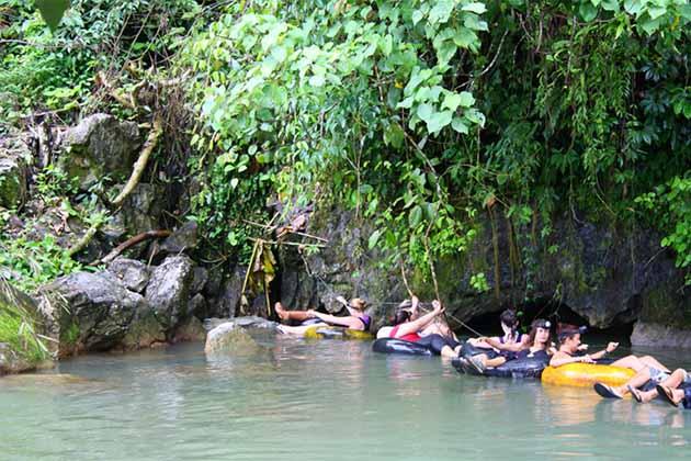 Cave tubing in Vang Vieng