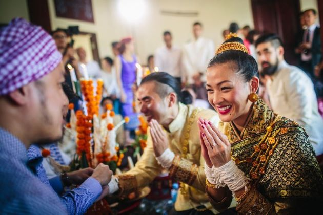 wedding ceremony in laos