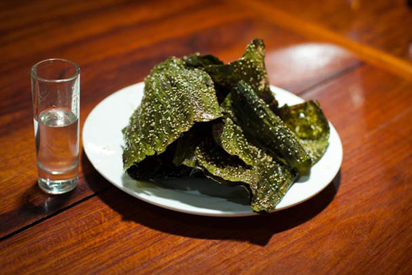 Kaipen is made from riverweed a special kind in Laos cuisine
