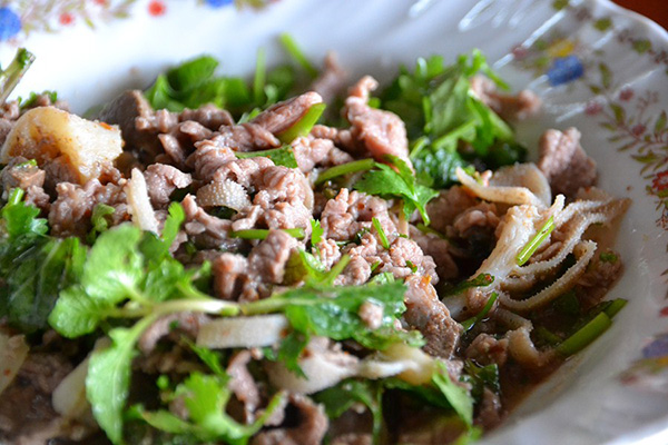 Laap is a traditional dish of Laos
