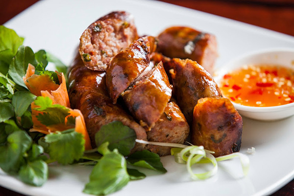Laos sausage makes a pleasant appetizer or snack