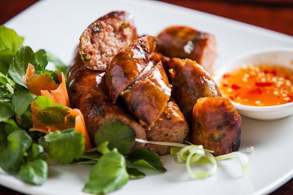 Laos sausage makes a pleasant appetizer or snack laotian cuisine