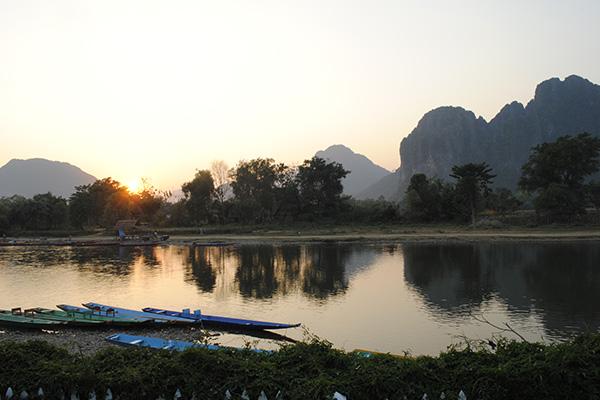 Nam Song River in Luang Prabang