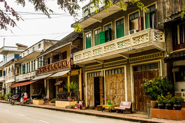 Old houses in Luang Prabang