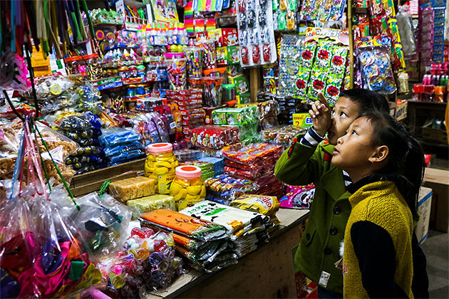 Phousi-Market-Luang-Prabang