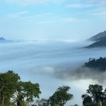 Sea of clouds view from the top of Phu Xai Lai Leng