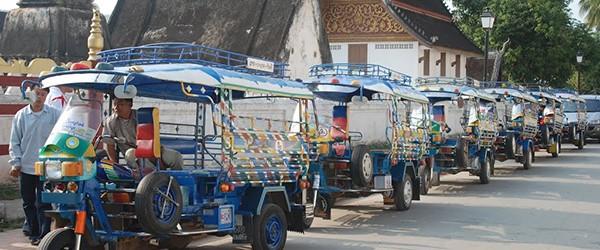 Tuk-tuk in Luang Prabang, Laos