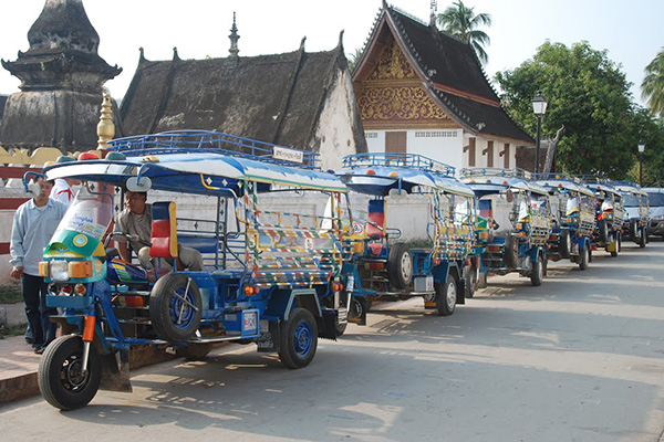 Typical means of transportation in Laos