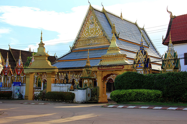 Wat Luang view from Thanon 11 Road, Laos Tour Package