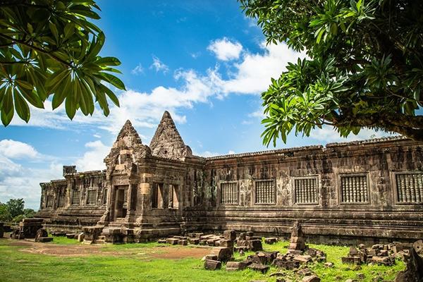 Wat Phou temple in Paske