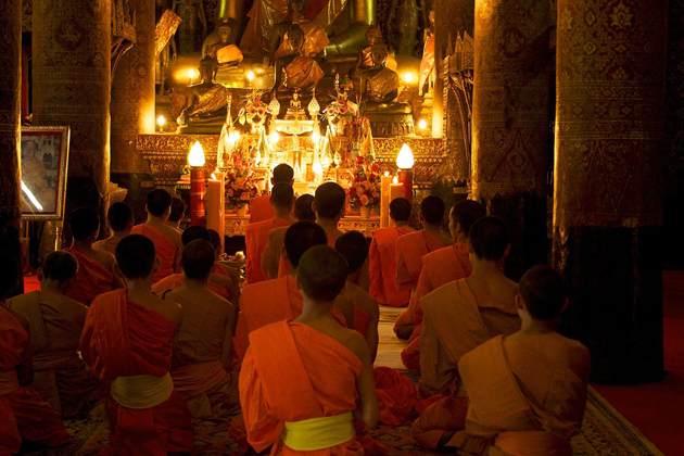Combination of Buddhism and Lao Animist Tradition