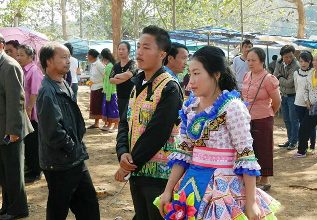 A festival of Lao Theung people
