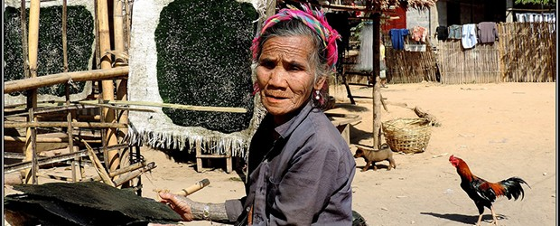 An old Lao Loum woman living near Nong Khiaw Laos