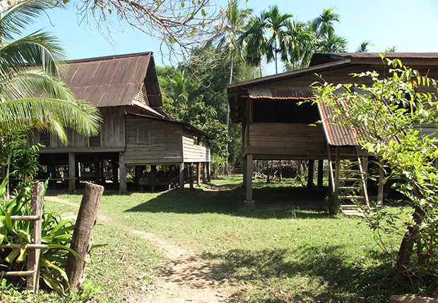 Houses of Lao Loum people
