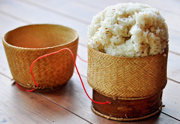 Klao niaw or Sticky rice - a must try in Laos