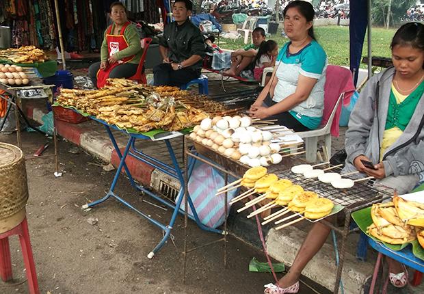 People selling street food