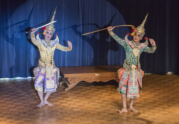 Performing Phra Lak Phra Ram Dance Laos Traditional Dances