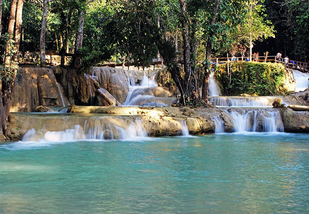 Tad Sae Waterfall - a shorter version of Kuang Si Waterfall