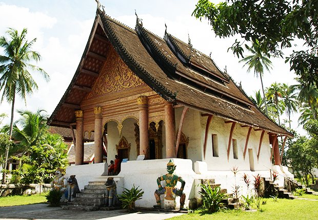 Wat Aham - a small temple in the heart of Laos