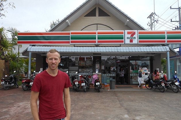 Convenient store and supermarket are good choices