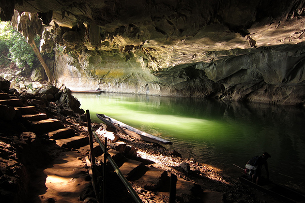 Kong Lor Cave is a karst limestone cave in Phu Hin Bun National Park, in Khammouane Province, Laos