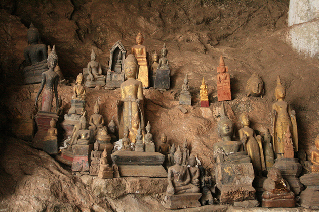 Pak Ou Caves is the most popular cave in Laos with the tourist