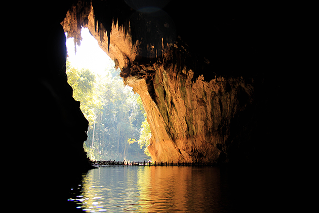 Tham Nam is the highlight of the cluster of caves near Vang Vieng