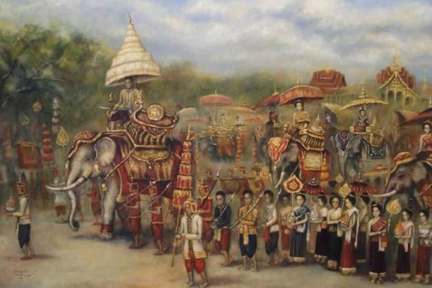 The royal procession sompaseuth chounlamany