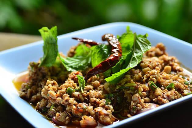 Minced-Pork-Salad-Laab-Moo, Laos tour