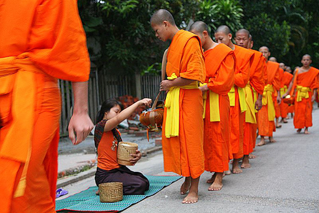 Morning Alms Giving Luang Prabang
