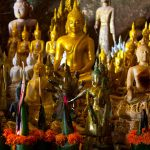 Bhudda statues in Pak Ou Caves, Vacations in Laos