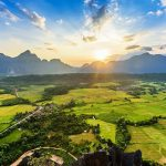 Scenic view of Vang Vieng