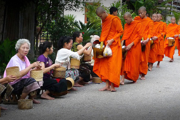 Luang Prabang Morning Alms Giving