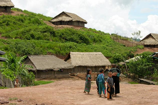 Khmu Village in Luang Prabang, Laos local tours