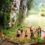 Rock climbing in Vang Vieng, Laos Tour Package