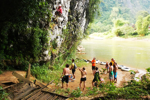 ock Climbing in Vang Vieng, Laos local tour