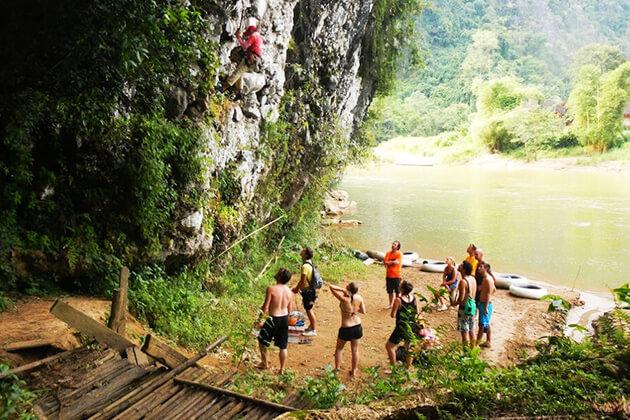 ock Climbing in Vang Vieng, Laos local tour