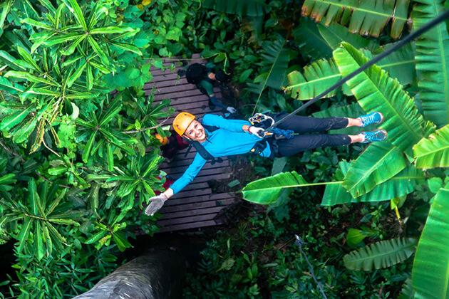 Vang Vieng Ziplining, Trips in Laos