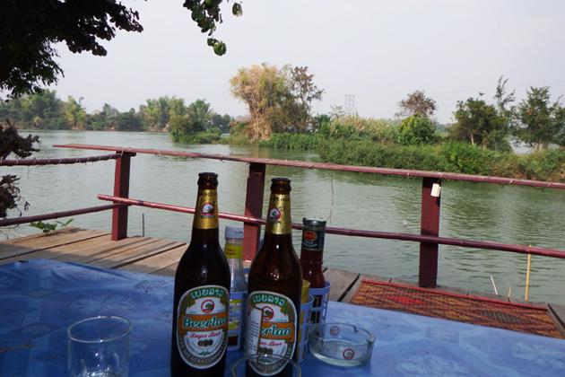 Enjoy the Laos Beer in Sin Phan Don 4000 Islands